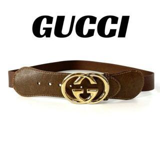 グッチ(Gucci)の【良品】GUCCI オールドグッチ ベルト 男女兼用 GG 金具 ゴールド(ベルト)