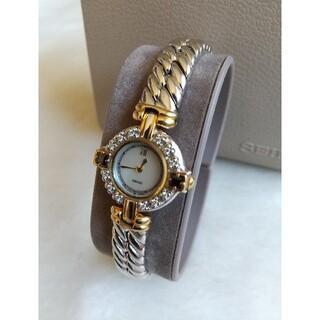 セイコー腕時計 美品 12Pダイヤ 2Pサファイア ジュエリークォーツ
