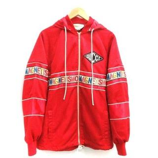 グッチ(Gucci)のグッチ 18SS ジャケット ブルゾン メッシュ ロゴ イタリア製 XL 赤(ブルゾン)