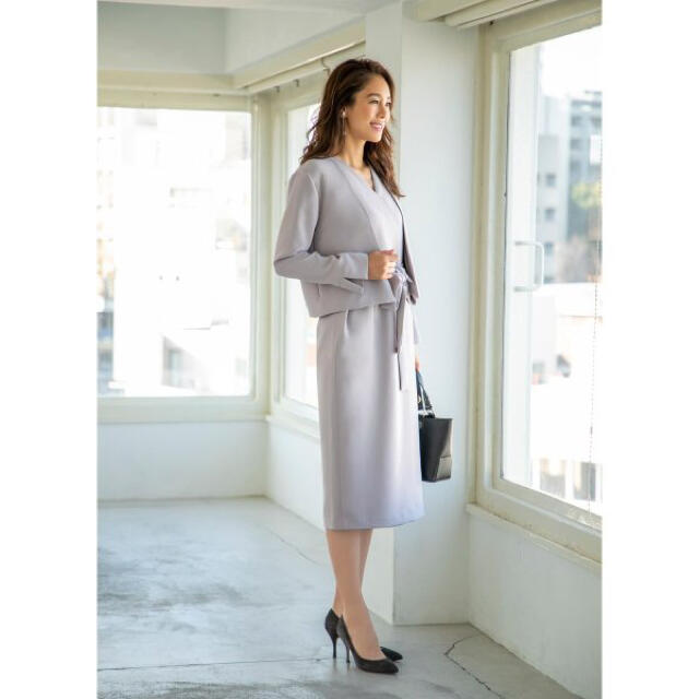 STYLE DELI(スタイルデリ)の新品 STYLE DELI OFFICE ジャケット付きカシュクールワンピース  レディースのフォーマル/ドレス(スーツ)の商品写真