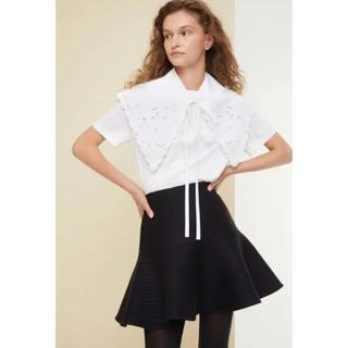 JEAN PATOU - PATOU  刺繍  ポプリンカラー 襟 パトゥ 付け襟