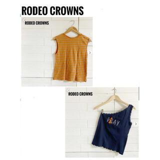 ロデオクラウンズ(RODEO CROWNS)のRODEO CROWNS  ロデオクラウンズ  ノースリーブ レディース(タンクトップ)