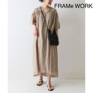 FRAMeWORK - ★フレームワーク★コットンギャザーロングワンピース
