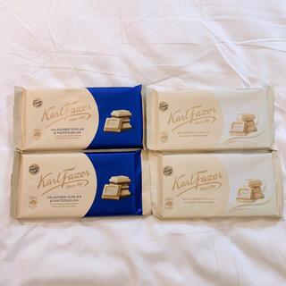 Lindt - Fazer ファッツェル ホワイト チョコレート 4枚セット 新品未開封