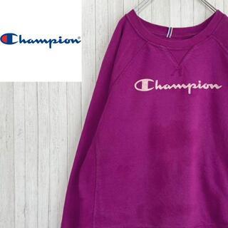 チャンピオン(Champion)のチャンピオン トレーナー スウェット パープル ビッグロゴ ラグラン L(スウェット)