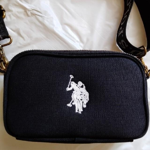 POLO RALPH LAUREN(ポロラルフローレン)の【美品】ユーエスポロアッスン クロスボディショルダーバッグS  黒 レディースのバッグ(ショルダーバッグ)の商品写真