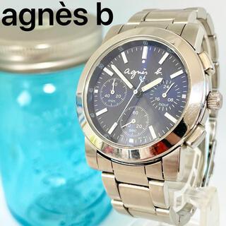 agnes b. - 118 アニエスベー時計 メンズ腕時計 レディース腕時計 ブルー クロノグラフ