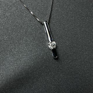 ダイヤモンド ネックレス k18wg(ネックレス)
