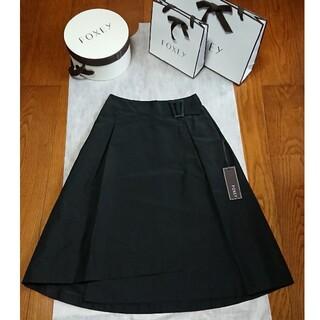 """FOXEY - 【新品】FOXEY Skirt """"Side Buckle"""" ブラックブラック"""