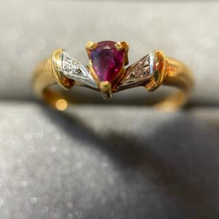 ルビー/ダイヤモンドリング pt900/k18(リング(指輪))