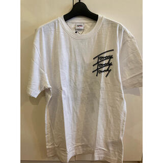 TOMMY HILFIGER - 新品未使用!トミージーンズ オーガニックコットンTシャツ ホワイトL