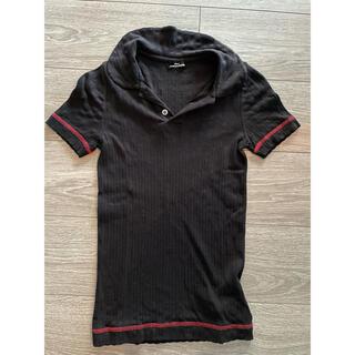 コムデギャルソン(COMME des GARCONS)のコム・デ・ギャルソンポロシャツTシャツカットソートップス黒ブラックレディース(ポロシャツ)