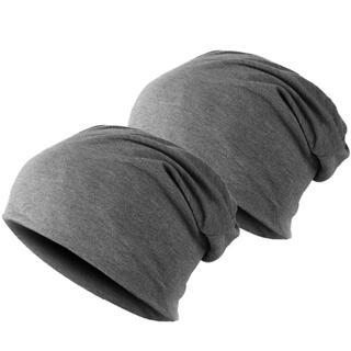 ワッチ ニット帽子2枚 男女兼用 グレー2枚 医療用帽子にも最適
