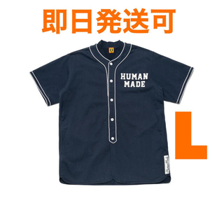 アベイシングエイプ(A BATHING APE)のHUMAN MADE BASEBALL SHIRT ベースボールシャツ L(シャツ)