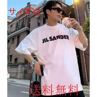 ジルサンダー(Jil Sander)のJIL SANDER ジルサンダーオーバーサイズ ロゴ Tシャツ(Tシャツ/カットソー(半袖/袖なし))