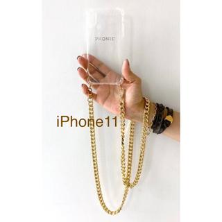 ドゥーズィエムクラス(DEUXIEME CLASSE)の新品* AP STUDIO PHONIE チェーンiPhone11 ケース(iPhoneケース)
