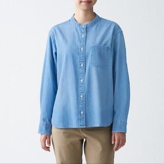 ムジルシリョウヒン(MUJI (無印良品))のインド綿 デニム スタンドカラーシャツ(シャツ/ブラウス(長袖/七分))