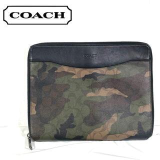 コーチ(COACH)のコーチ カモフラージュ 迷彩 テック ケース クラッチ バッグ 緑(セカンドバッグ/クラッチバッグ)