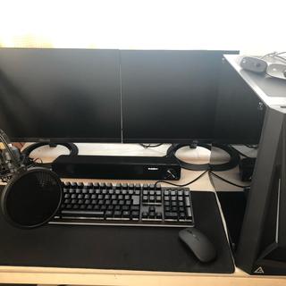エイスース(ASUS)の豪華!ASUS モニター2台 デスク本体 ゲーミングPC(デスクトップ型PC)