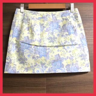 ダズリン(dazzlin)の【新品】 ダズリン 花柄ミニスカート  Sサイズ ブルー キュロット (ミニスカート)