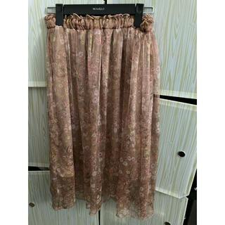 オリーブデオリーブ(OLIVEdesOLIVE)のOLIVE  des OLIVE  スカート 花柄 ピンク(ひざ丈スカート)