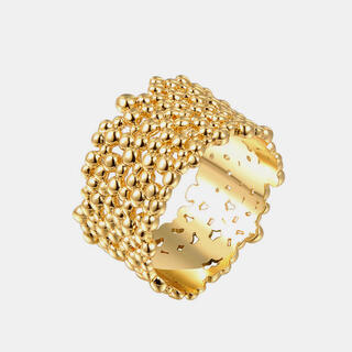 TODAYFUL - Wide grain gold ring No.277
