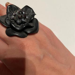 フラワーリング ブラックストーン(リング(指輪))