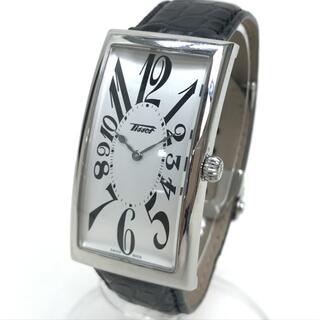 ティソ(TISSOT)のティソ T117509A バナナウォッチ メンズ腕時計 SS/革ベルト シルバー(腕時計(アナログ))