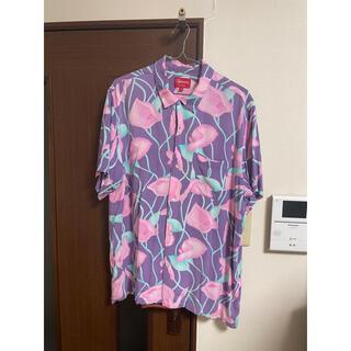 シュプリーム(Supreme)のシュプリーム  シャツ supreme lily rayon shirt 百合(シャツ)