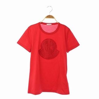 モンクレール(MONCLER)のモンクレール ビッグ刺繍ロゴTシャツ カットソー 半袖 国内正規 M 赤(Tシャツ(半袖/袖なし))