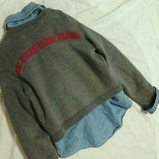 カルバンクライン(Calvin Klein)のカルバンクライン バックロゴ スウェットノーカラージャケット(ノーカラージャケット)