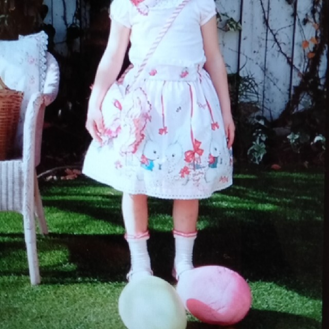 Shirley Temple(シャーリーテンプル)のシャーリーテンプル キャンディバニースカート110ピンク キッズ/ベビー/マタニティのキッズ服女の子用(90cm~)(スカート)の商品写真