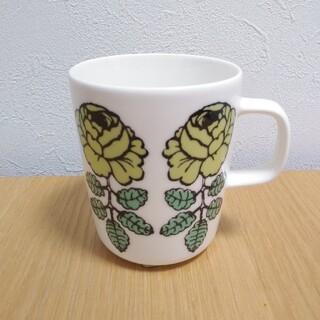 マリメッコ(marimekko)のマリメッコ ヴィヒキルース グリーン マグカップ(グラス/カップ)