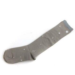 ミナペルホネン(mina perhonen)のミナペルホネン クルーソックス 靴下 22.0cm 24.0cm グレー(ソックス)