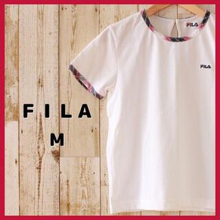 フィラ(FILA)のFILA フィラ スポーツウェア レディース M テニス ゴルフ 刺繍ロゴ(ウェア)