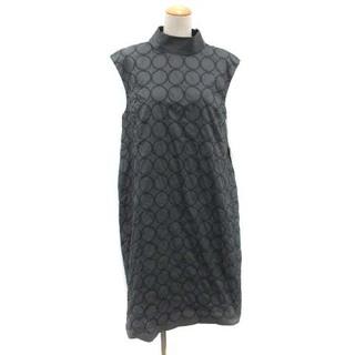 ミナペルホネン(mina perhonen)のミナペルホネン タンバリン ドレス ワンピース ノースリーブ 38 M グレー(ロングワンピース/マキシワンピース)