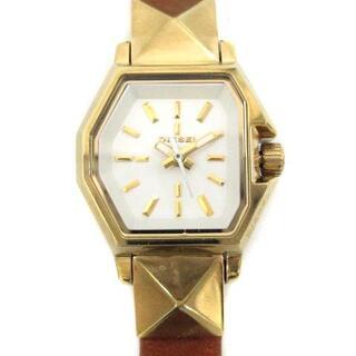 ディーゼル(DIESEL)のディーゼル 腕時計 クオーツ アナログ レザーベルト 茶 ブラウン ゴールド色(腕時計)
