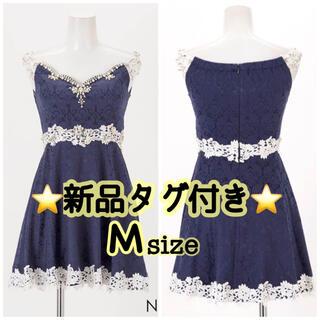 デイジーストア(dazzy store)の新品タグ付き フレア オフショル キャバドレス dazzy(ナイトドレス)