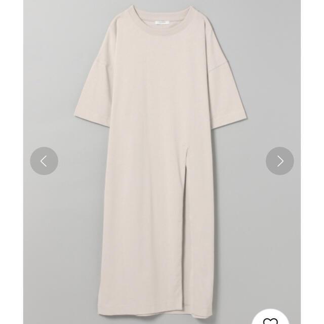 JEANASIS(ジーナシス)の美品✳︎ ジーナシス ワンサイド スリット ロングT ワンピース Tシャツ レディースのワンピース(ひざ丈ワンピース)の商品写真