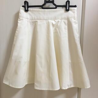 NICE CLAUP - ミニスカート フレアスカート プリーツ シンプル 白 ユニフォーム