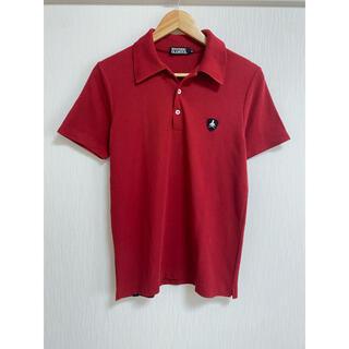 ヒステリックグラマー(HYSTERIC GLAMOUR)のヒステリックグラマー   Mサイズ ポロシャツ レッド 赤 ワンポイント(ポロシャツ)
