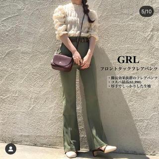 GRL - 【新品未使用品!!即購入OK!!】フロントタックフレアパンツ