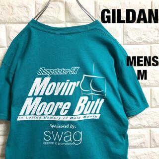 ギルタン(GILDAN)のアメリカ古着 ギルダン 企業ロゴ セクシープリント Tシャツ メンズMサイズ(Tシャツ/カットソー(半袖/袖なし))