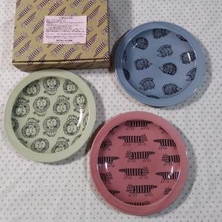 リサラーソン(Lisa Larson)の新品未使用 リサラーソン トリオプレートセット お皿 3枚 マイキー ライオン(食器)