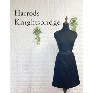 ハロッズ(Harrods)の426 ハロッズ スカート 黒 ブラック フォーマル 日本製 通勤(ひざ丈スカート)