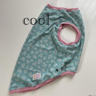 大型犬服(②のサイズ)リーフライトブルー(cool)ピンク(犬)