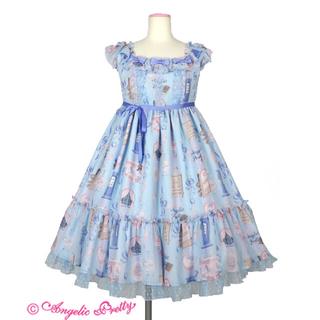 アンジェリックプリティー(Angelic Pretty)のgirly room Sax ジャンパースカート(ひざ丈ワンピース)