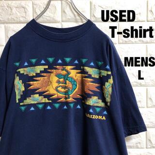 アメリカ古着 アリゾナ プリント Tシャツ メンズLサイズ(Tシャツ/カットソー(半袖/袖なし))
