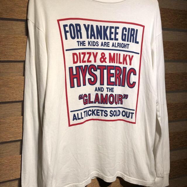 HYSTERIC GLAMOUR(ヒステリックグラマー)のヒステリックグラマー   YANKEE GIRL ロンt S レディースのトップス(Tシャツ(長袖/七分))の商品写真