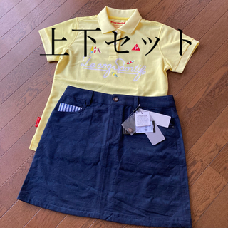 adidas - ゴルフウェアレディース 新品アディダススカート  美品ルコック ポロシャツ  L